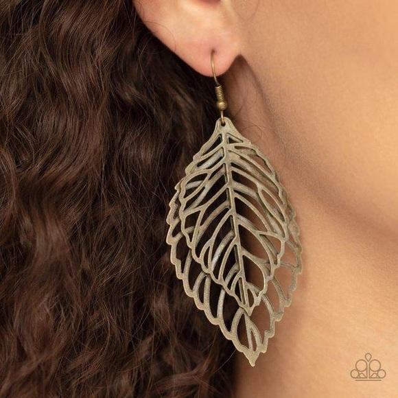 ❤️🔥5/$25❤️🔥 Take It or Leaf It Brass Earrings